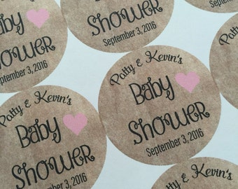 Baby Shower Stickers, Custom Stickers. Stickers. Baby Shower favors, popcorn favors, Ready to Pop. Ready to Pop baby shower. 20 Stickers.