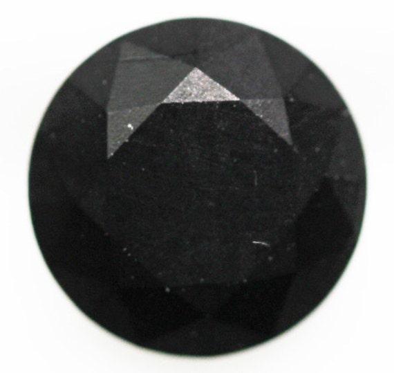 jet black gemstone 0 30cts cut 6mm by 1001raregemstones