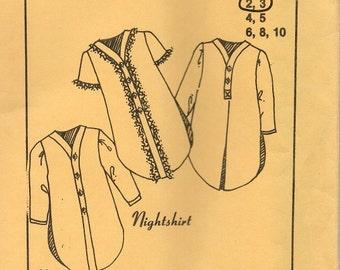 Maggie's Classics ~ Nightshirt 114 ~ Sizes 2, 3