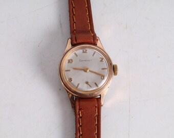 Vintage Old Swiss Made Cortebert Gold Plated Ladies Wrist Watch.