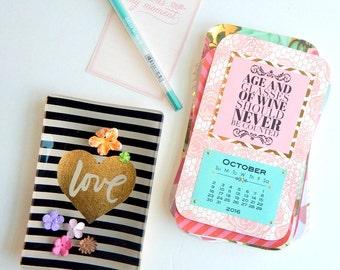 Teachers Gift Inspirational Quotes Desk Calendar 2016 Desk Calendar Girl Boss