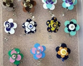 Flower ID badge holder retractable badge holder