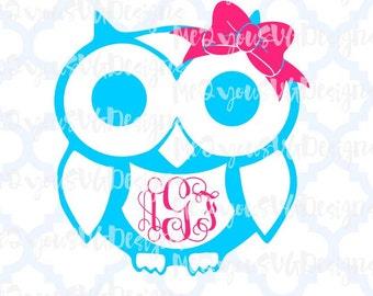 Owl Monogram SVG,EPS,PNG,Studio