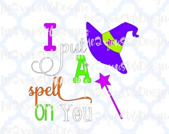 I Put A Spell On You SVG,EPS,PNG,Studio