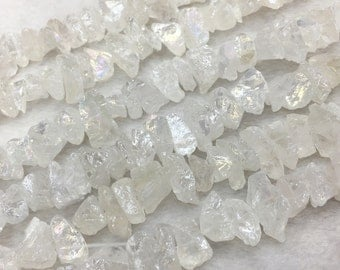 1Full Strand Quartz Crystal Point,Top Drilled Quartz Crystal Beads for Jewelry Making