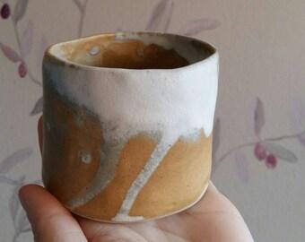 Glazed vase, rustic.