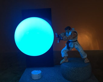 Ryu Street Fighter Lamp with hadouken sound effect