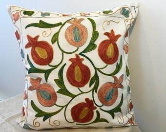 Uzbek suzani pillow cover # 28