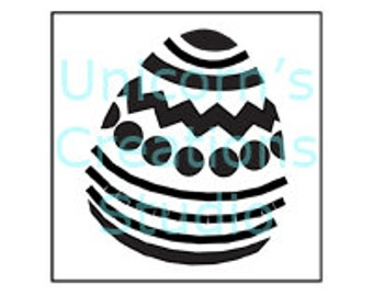 Easter Egg Stencil - Scrapbooking, Fabric Painting, Airbrushing, Wall Decor, Easter Stencil, Spring Stencil, Holiday Stencil, Powder Sifting