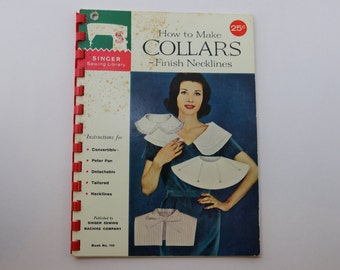 Vintage 1960s Singer How to Make Collars instruction booklet, 32 pages