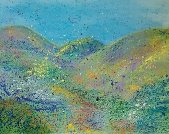 Painted Hills, wildflowers, scenery