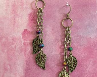 Dangling Leaf Earrings