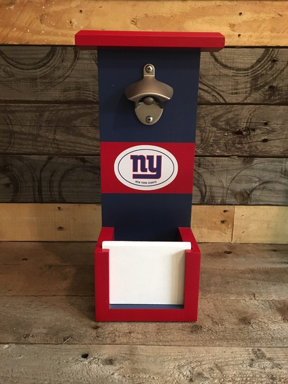 ny giants bottle opener with cap catch. Black Bedroom Furniture Sets. Home Design Ideas