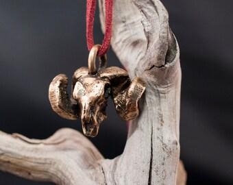 bronze ram's skull