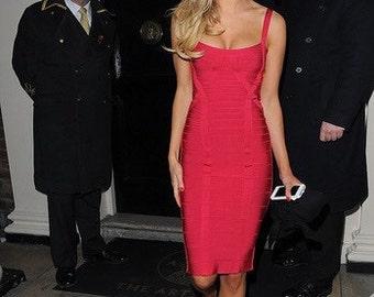 Red valentines herve leger dress
