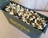 9 MM Once Fired Brass in an Ammo can 1000 + Pieces. This brass is great for reloading, jewelry making and other crafts.