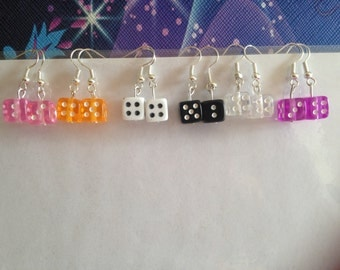 Colourful Dice Earrings