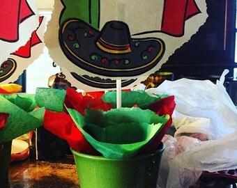 Mexican Fiesta , Mexican Centerpieces , 5 De Mayo ,