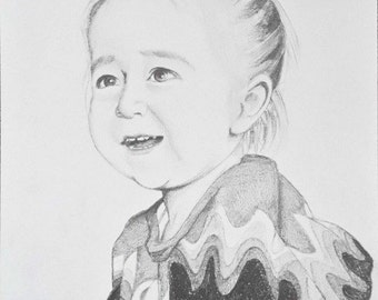 Custom portrait A4 from picture. Graphite black and white