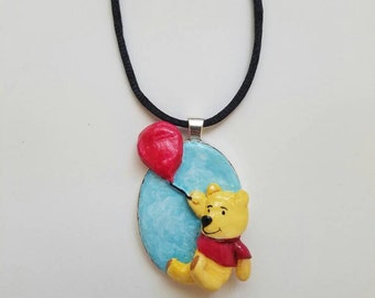 Winnie the Pooh Hand Made Pendant with Necklace