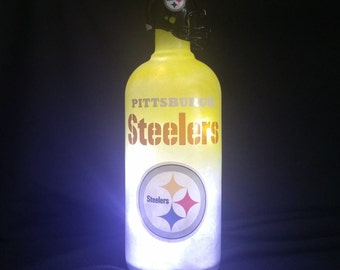 Pittsburgh Steelers bottle lamp
