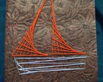 Custom Handmade Needle and Thread Greeting Cards