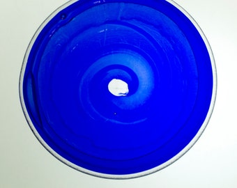 18 cm Bowl - Chaos in the Kiln - reclaimed blue / clear / glass