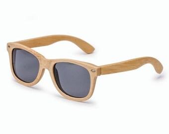 Bamboo Sunglasses Classic Studs Wayfarer Polarized -Ziba Wood Sunglasses: The Denali
