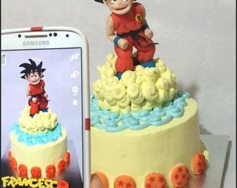 Cake Topper Goku in sugar paste (or not edible)