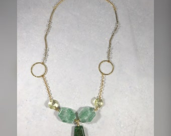 Reclaimed Green necklace