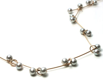 Pearl Necklace 750 Rosé gold