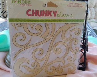 BoBunny Chunky Charms Swirls and Brackets