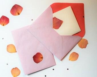 Envelope classic rose