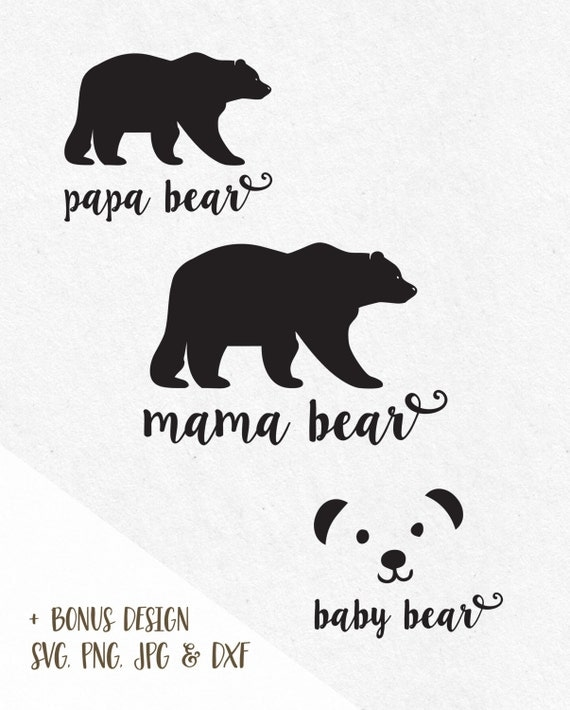 baby bear silhouette svg pictures to pin on pinterest