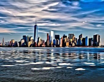 New York City Skyline - Print or Canvas