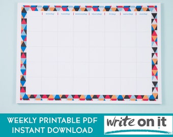 Printable Planner | Productivity Planner | To Do List | Weekly Planner | Daily Planner | Planner Pages | Instant Download | A4 Planner Pages