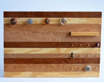 Handcrafted Wall Mount Organizing Board & Jewelry Display