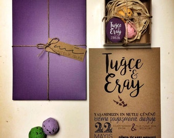Wedding invitation and gifts