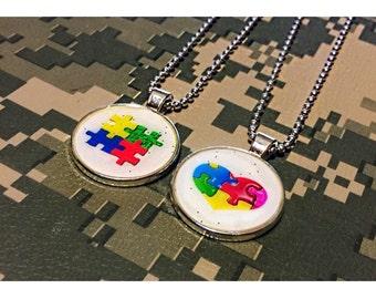 Autism Awareness Pendant Necklace