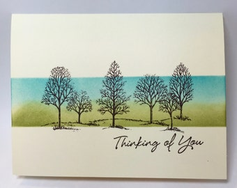 Thinking of You Note Card, Sympathy, Handmade