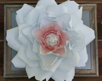 Giant Paper Flower with reclaimed wood frame