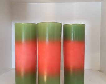 Blendo, Tall, Tom Collins, HighBall, Mid Century Modern,Drinkware,Barware, Watermelon , Color