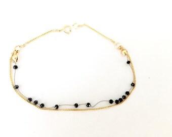 Bracelet Goldfill Beaded