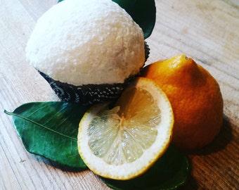 Lemon Meringue Cupcake Bath Bomb