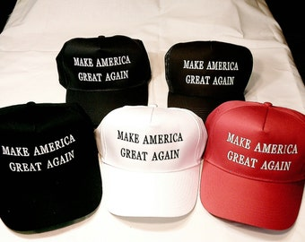 Donald Trump Make America Great Again -High Profile Truckers Cap
