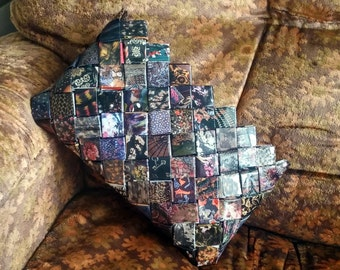 Tapestry - hand woven recycled paper clutch
