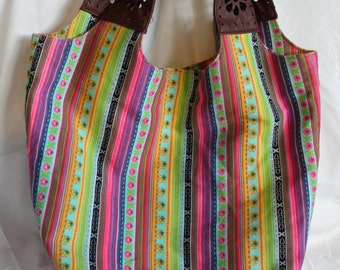 Colorful Vintage Tote