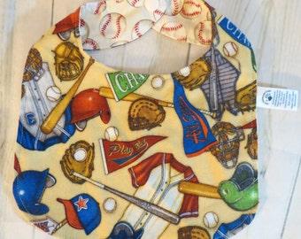 Reversible Baseball Tradional Style Bib