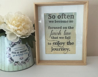 Wood Picture Frame Quote Gift Idea Wall Art
