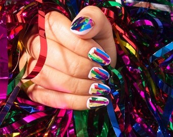 Party Hardy! Japanese Style Gel Press on Nails/Japanese Nail Art